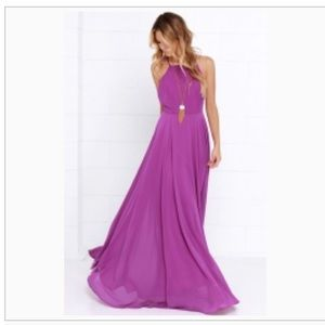 Lulu's Mythical Kind of Love purple maxi dress